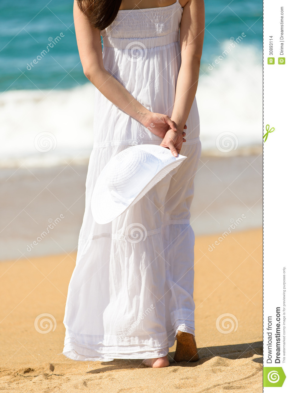 Woman Walking On Beach Stock Images - Image: 30893114