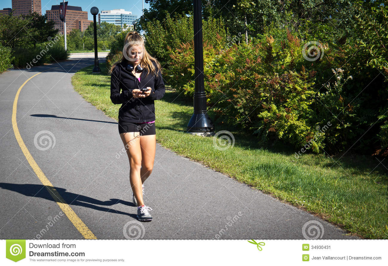 woman walking for exercise stock image image 34930431