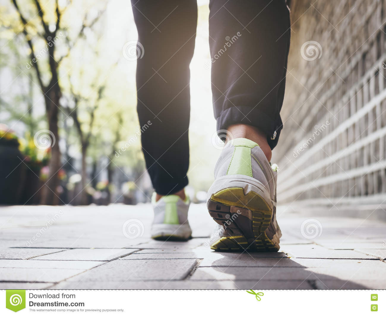 Woman Walking outdoor Jogging exercise Healthy lifestyle