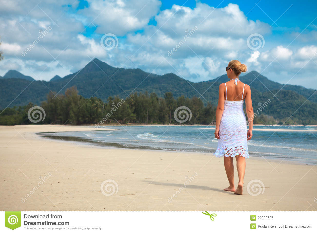 Woman walking on a beach royalty - Royalty Free Stock Photo Download Woman Walks On A Beach
