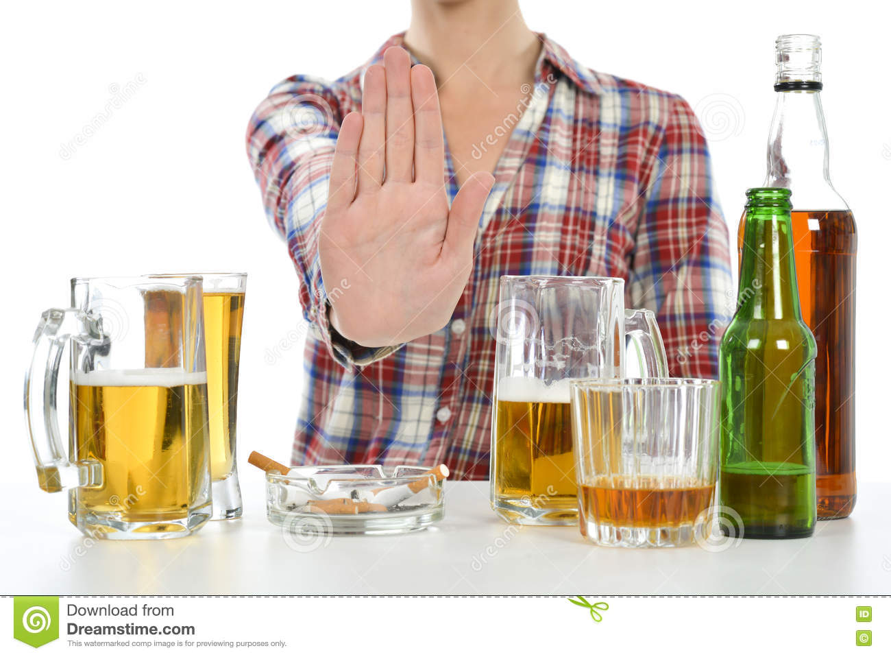 Woman wants to quit drinking and smoking