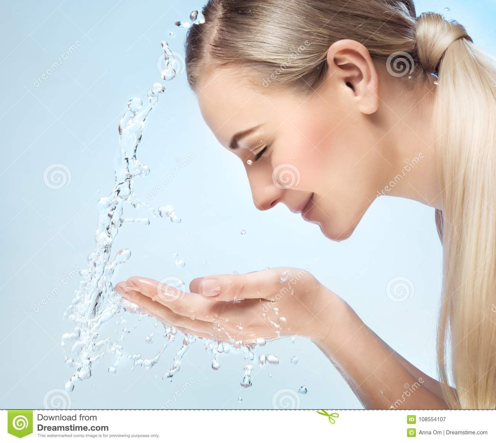 Fresh Face Stock Image Of Girl Acne Portrait