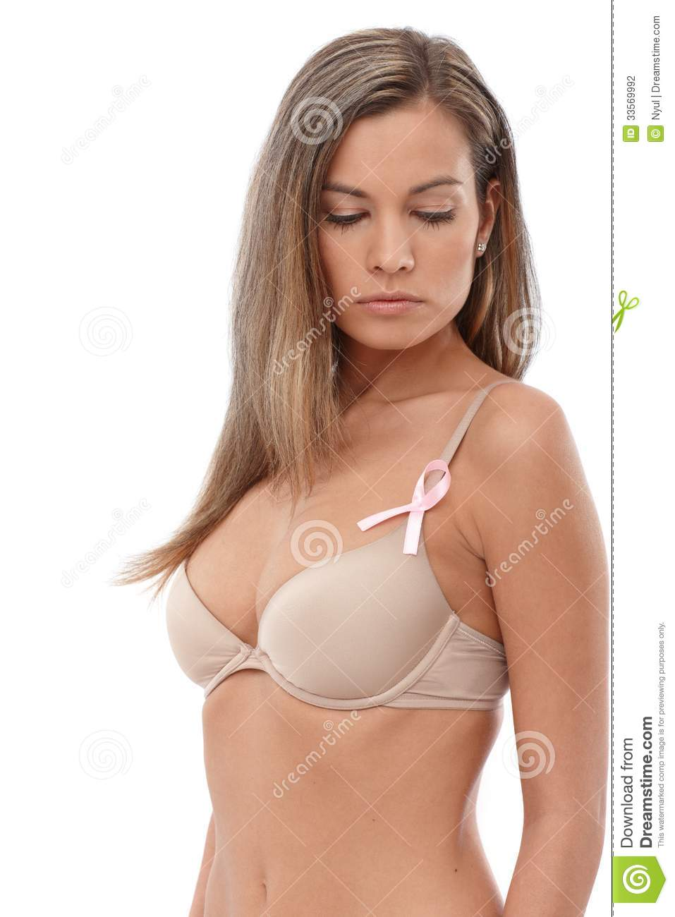 young woman breast developement