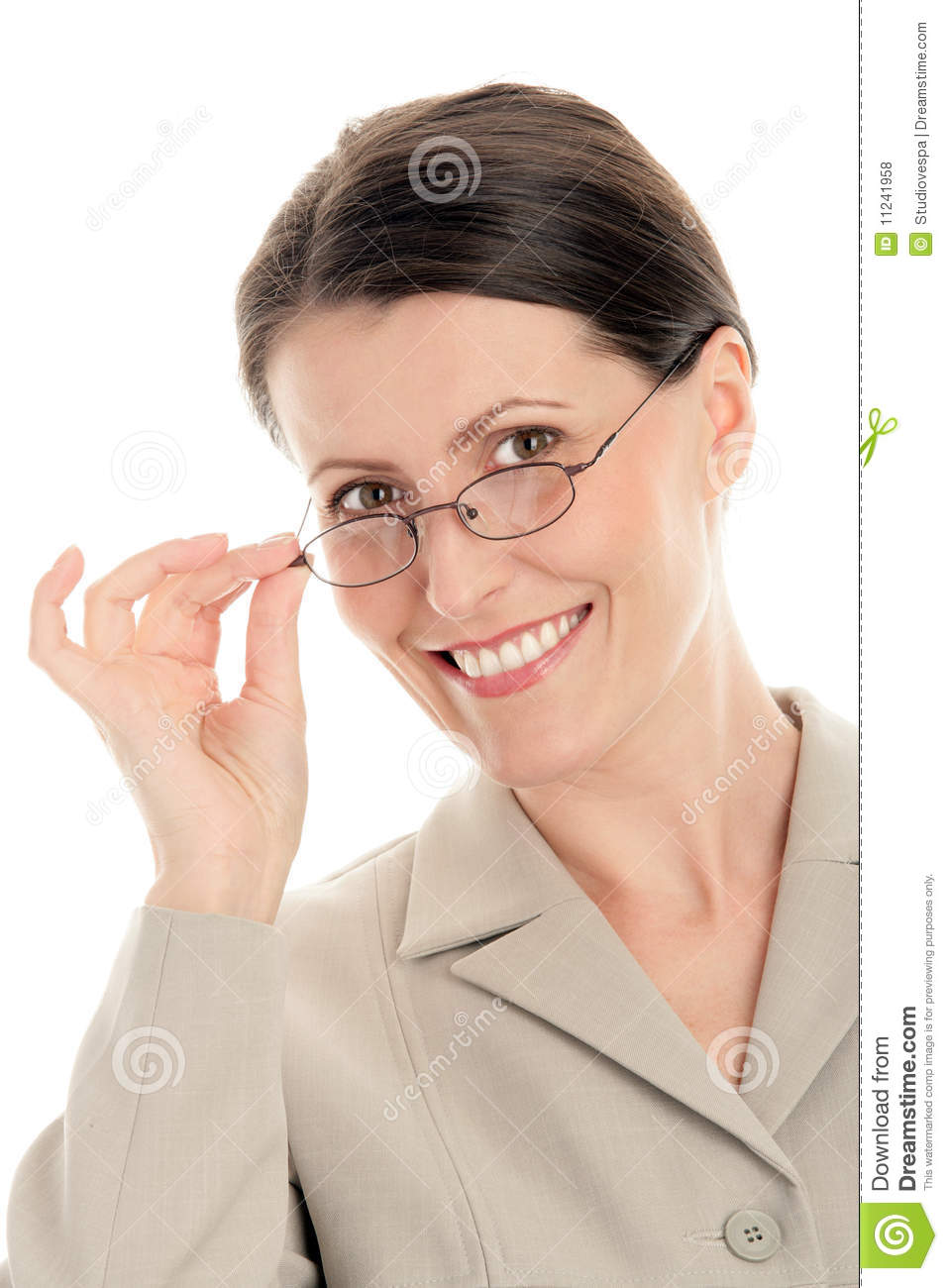Woman Wearing Glasses Royalty Free Stock Photos Image
