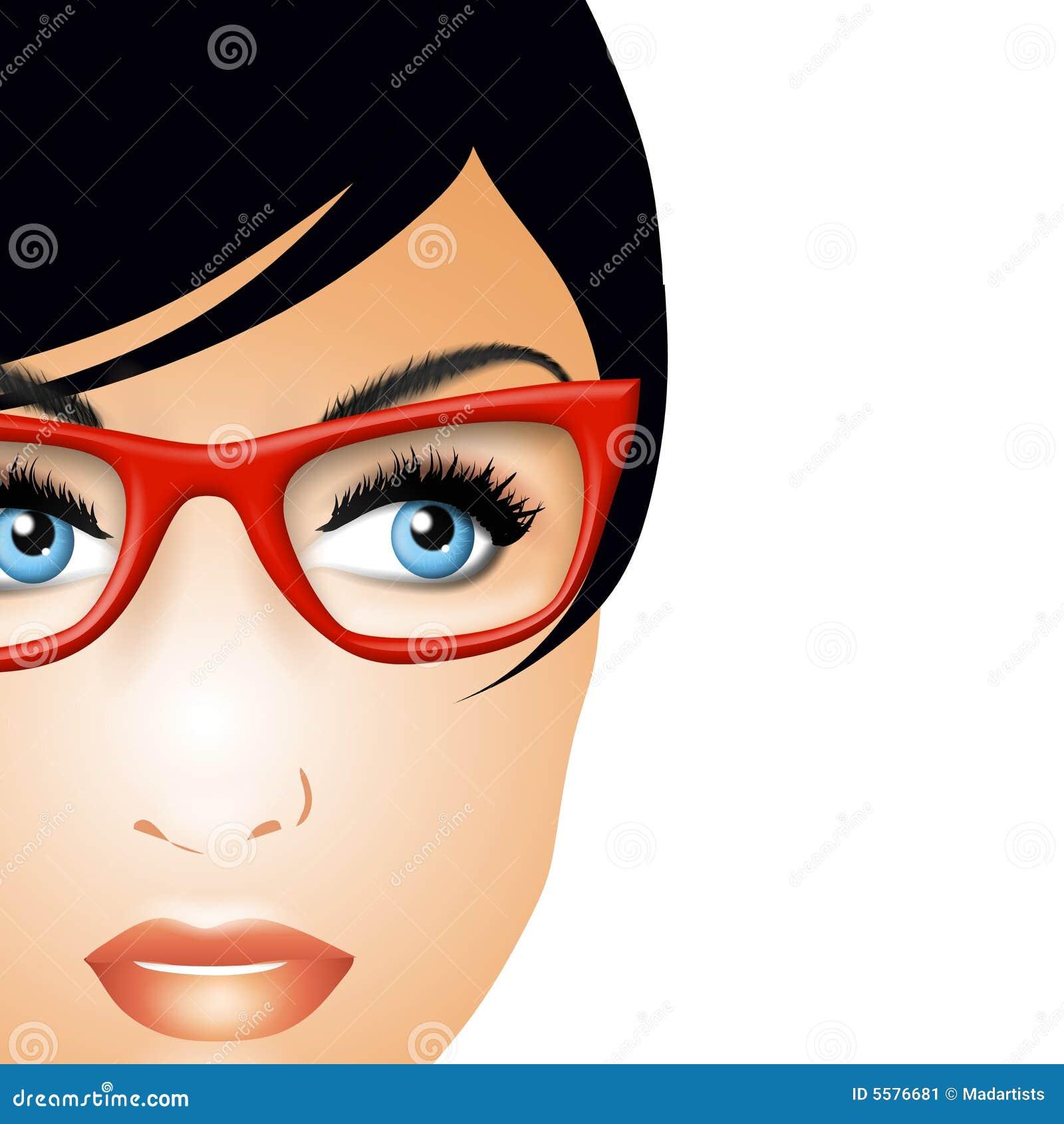 clipart girl glasses - photo #46