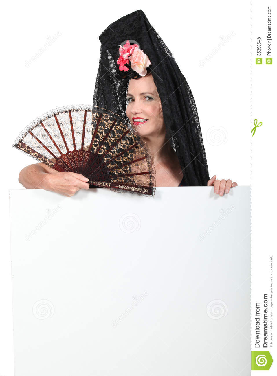 Woman wearing mantilla royalty free stock photos image for Www dreamhome com