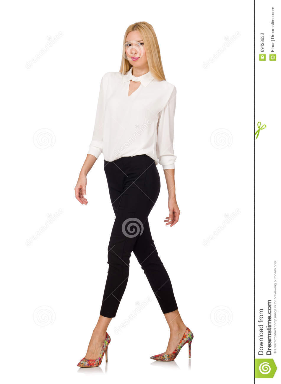 fac4f6b943d The Woman Wearing Official Casual Style Isolated On White Stock ...