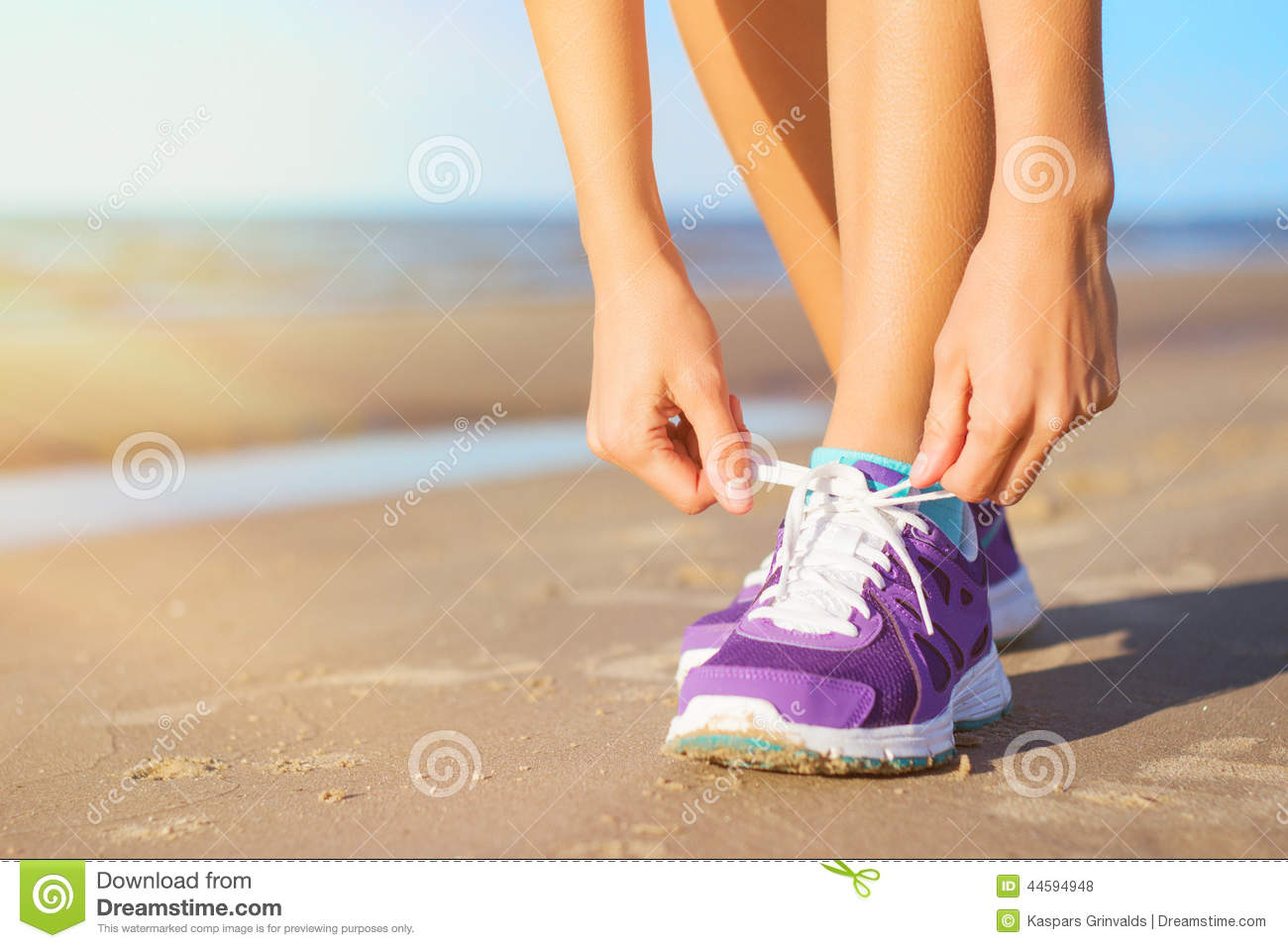 Woman Wearing Running Shoes Stock Photo - Image of people 5bd548017