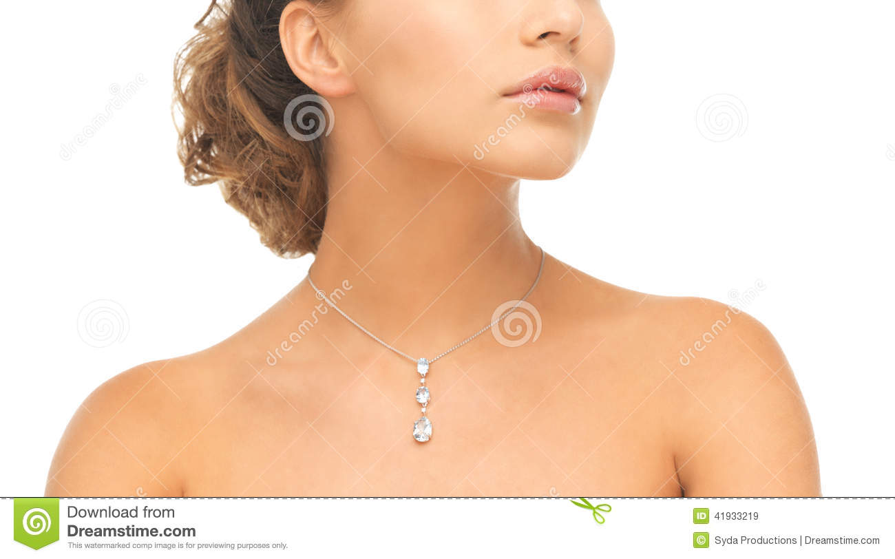 Necklace Beautiful Woman On 96