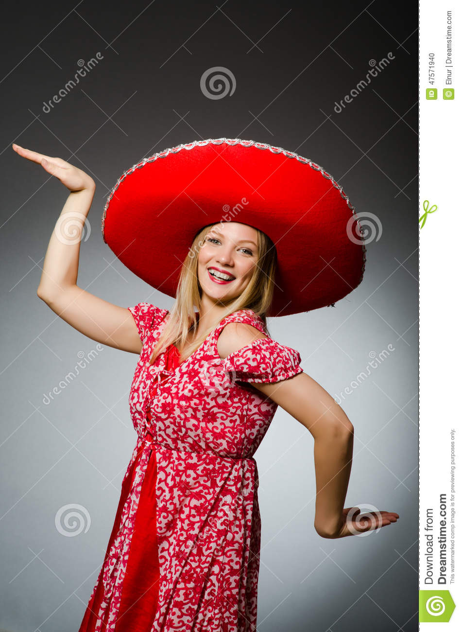 Woman wearing sombrero hat stock photo. Image of party - 47571940 7d404397c6b