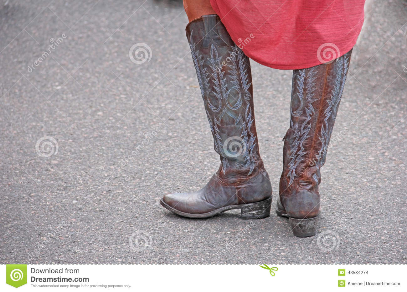 Woman Wearing Western Cowboy Boots Royalty-Free Stock ...