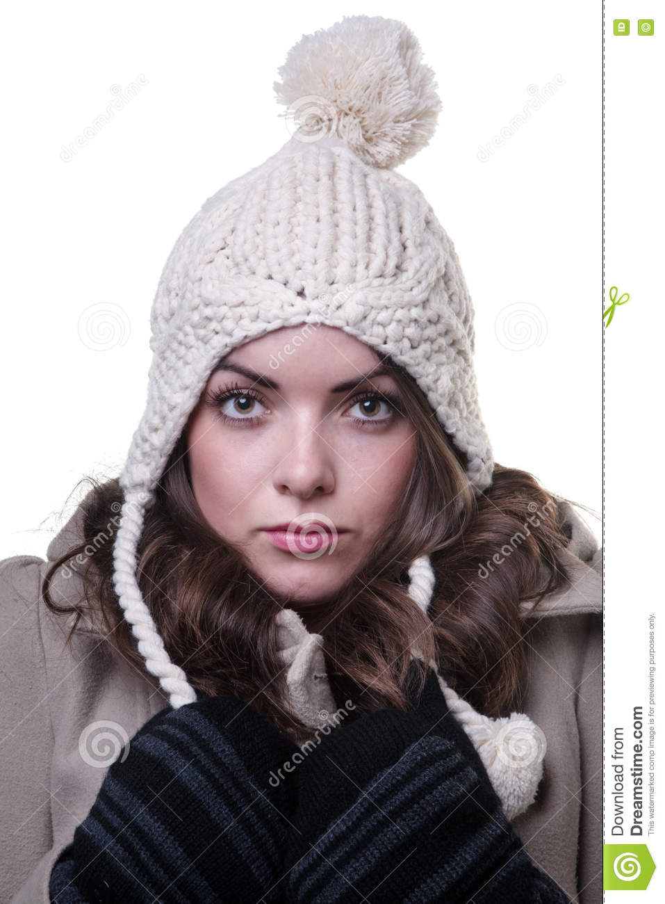 2a0717c6251 Woman Wearing Winter Clothes Stock Photo - Image of knitted