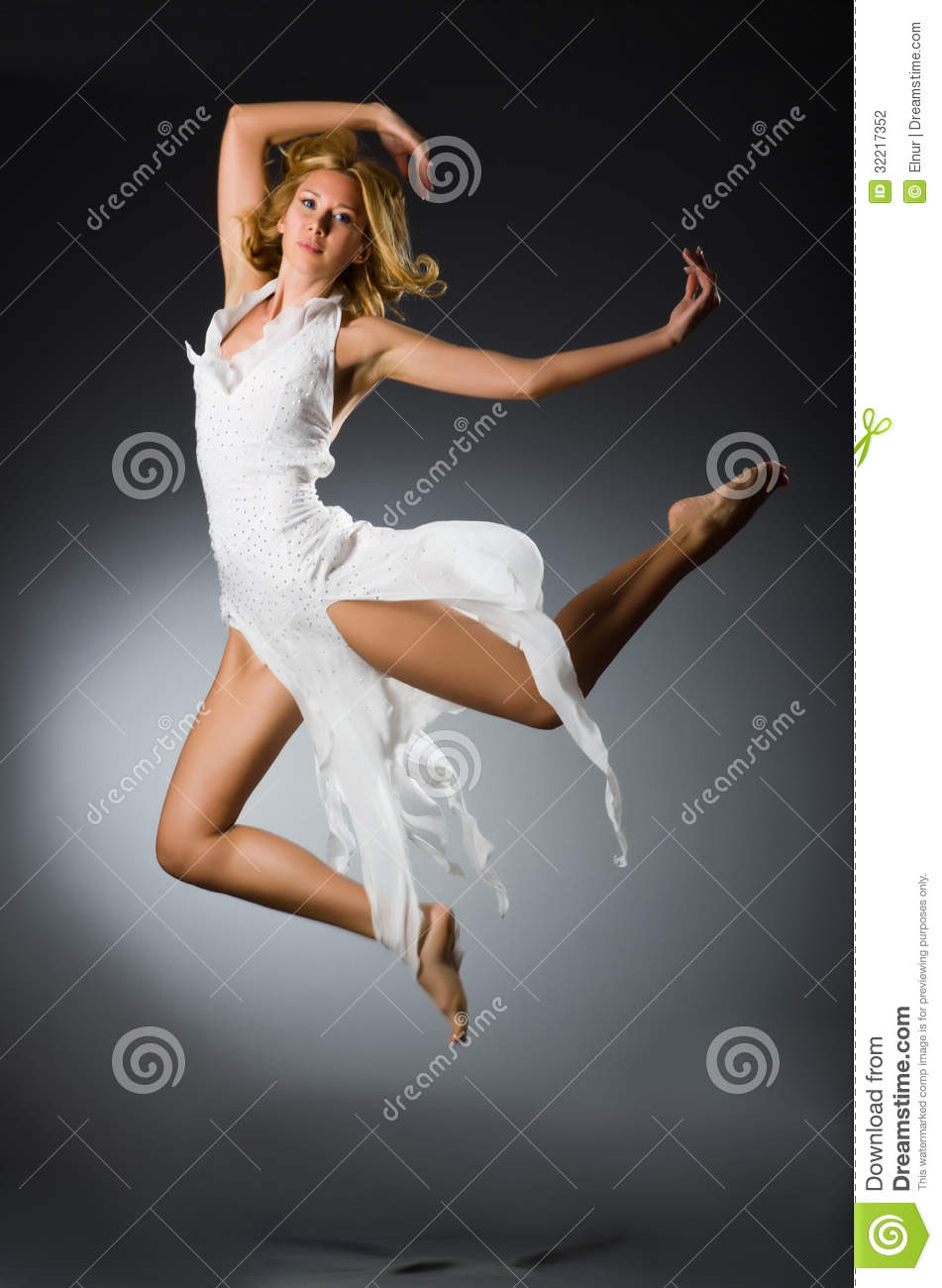 Woman in wedding dress stock photography image 32217352 for Best wedding dresses for dancing
