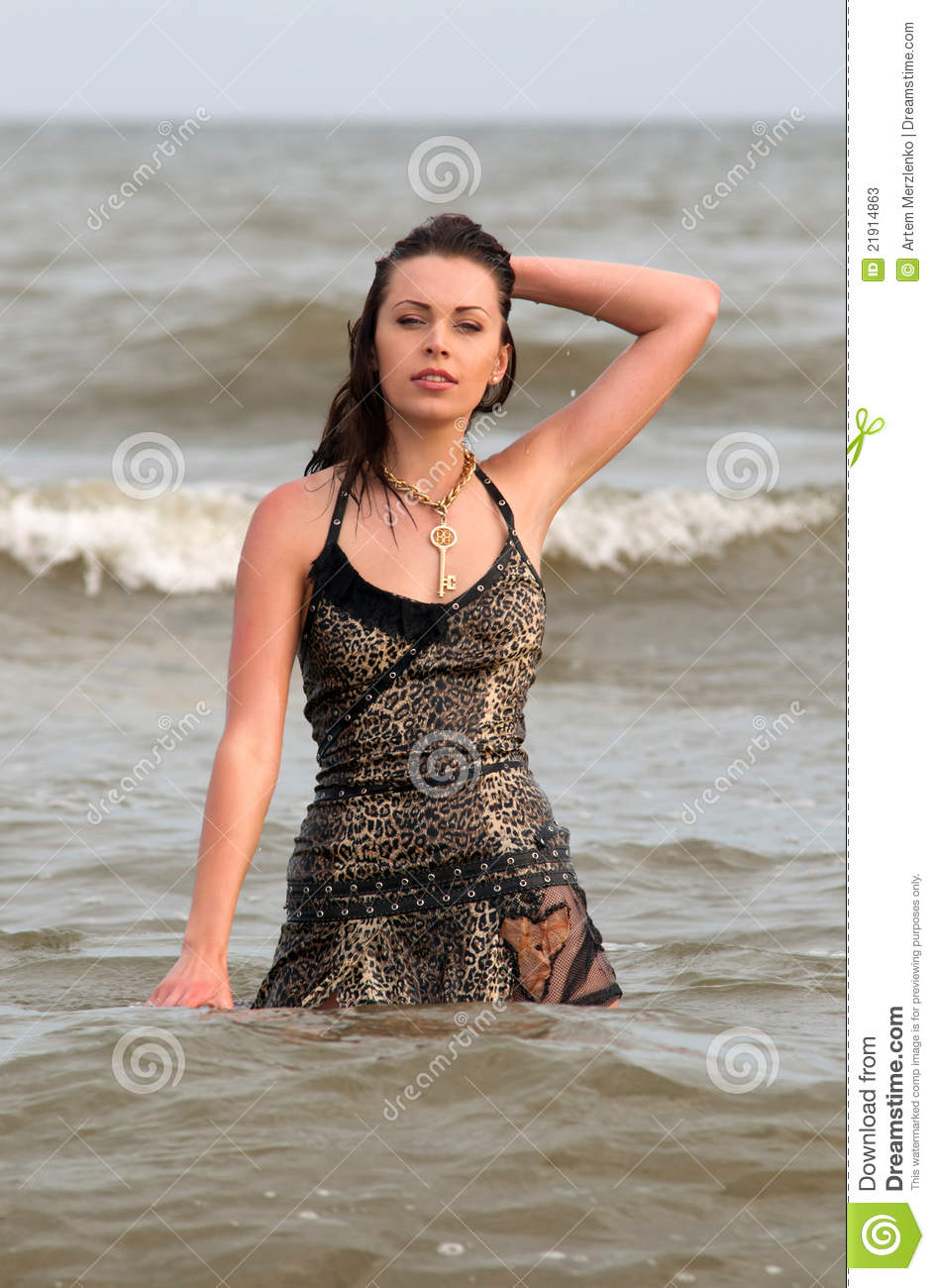 Woman In A Wet Dress Stock Photos Image 21914863