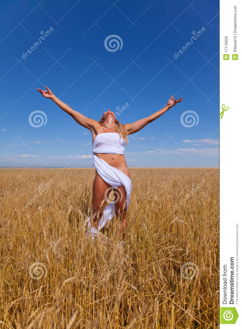 Woman In Wheat Field Royalty Free Stock Image - Image ...