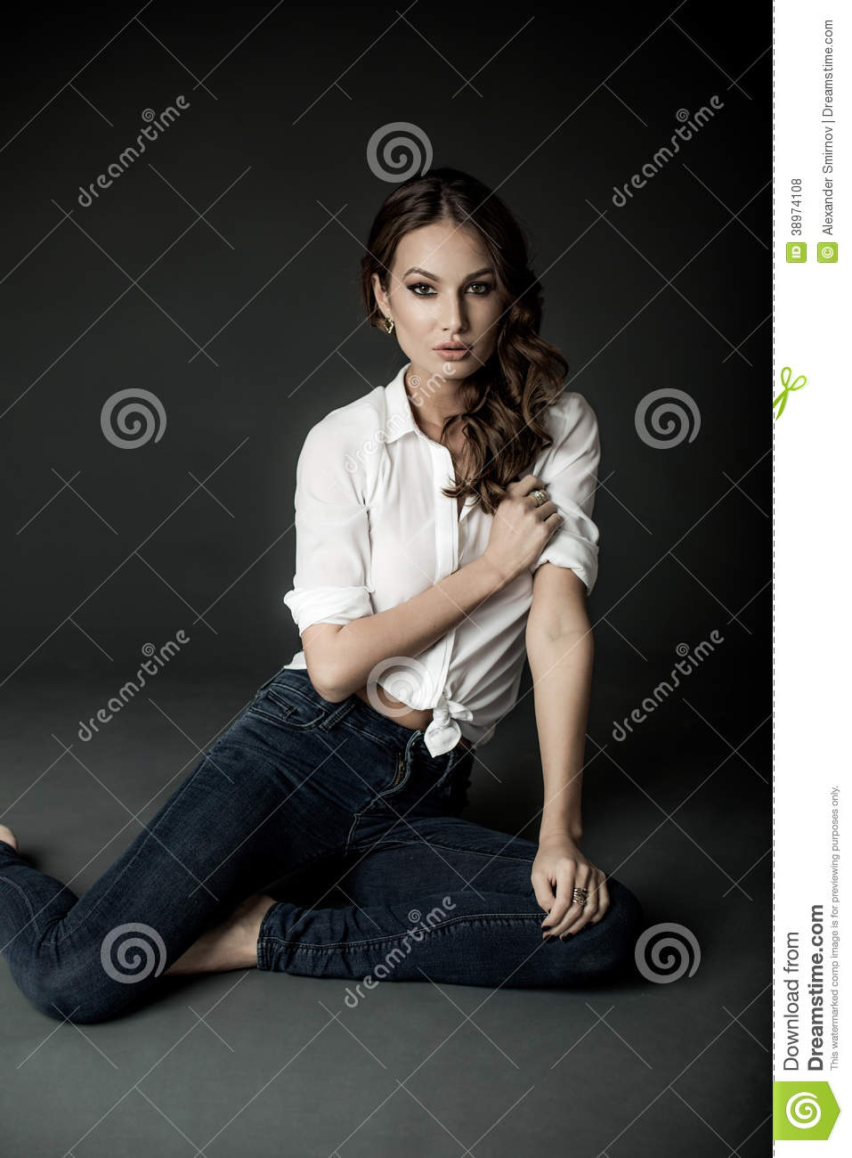 White Blouse And Blue Jeans 16