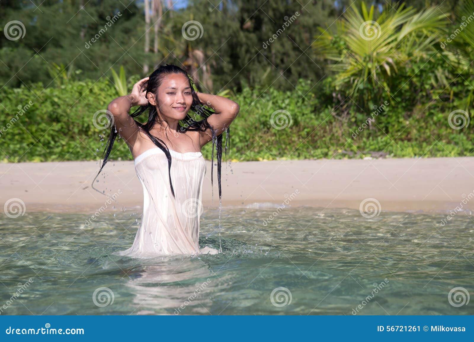 Wet asian women