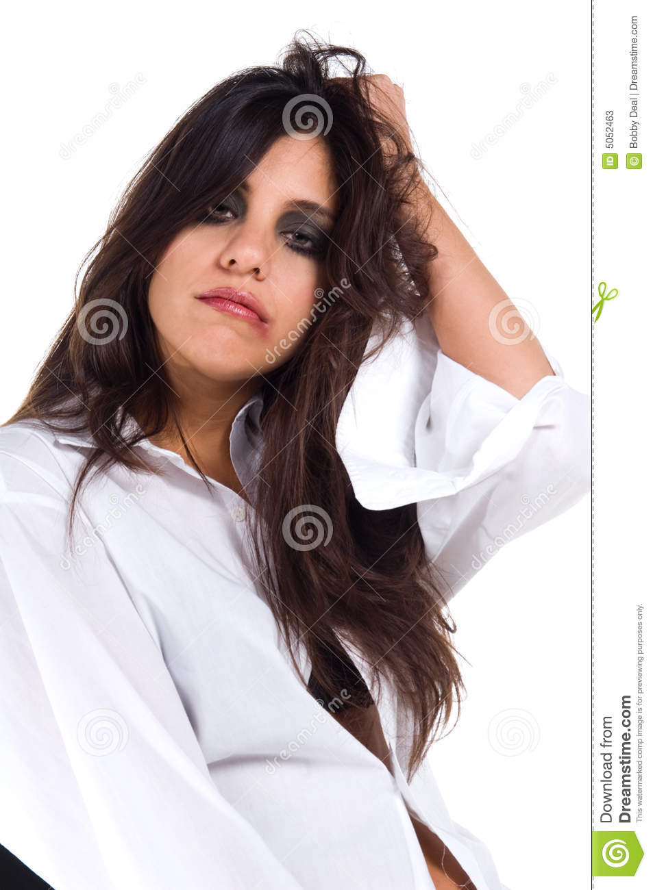 Young Man Girl White Tshirts Isolated Stock Photo (Edit