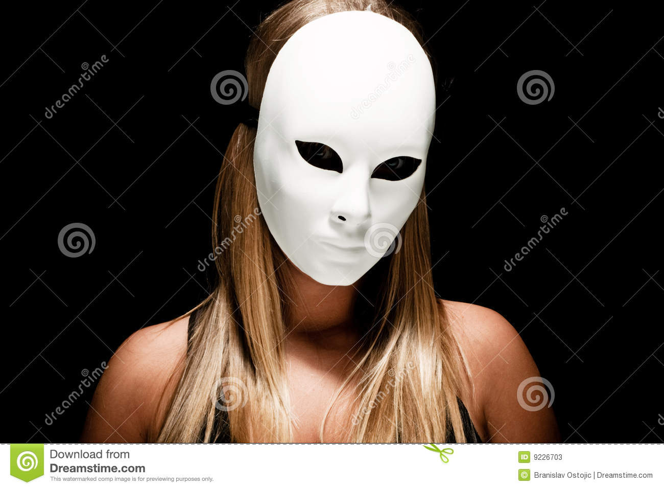 Woman With White Mask Stock Photos - Image: 9226703