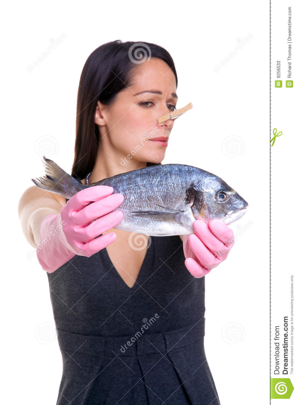 Like: Woman Who Doesn't Like Fish Stock Image