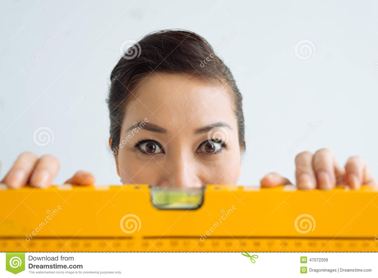 Woman with wide open eyes