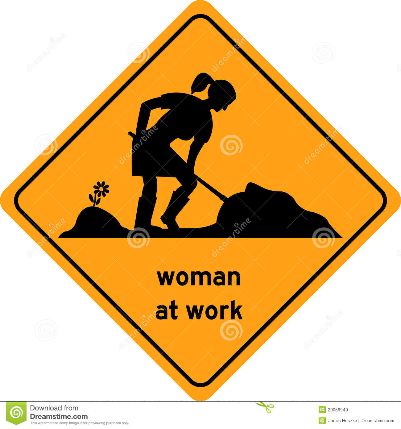 Woman At Work Traffic Sign, Symbol Stock Photo - Image: 20056940