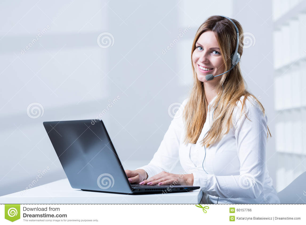 w working in customer service stock photo image  w working in customer service