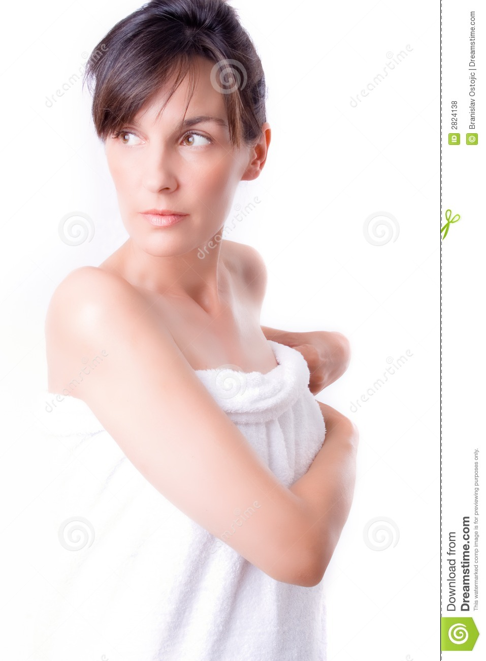 Woman wrapped in bath towel stock photo image 2824138 for Bathroom models photos