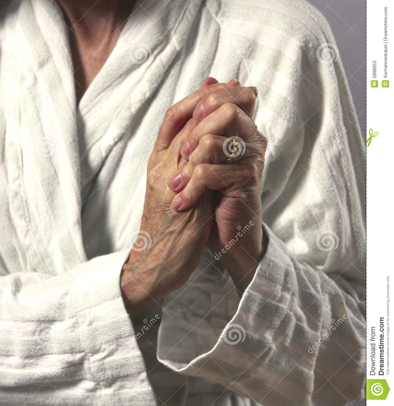 Woman Wringing Hands In Pain Stock Photos - Image: 5898953