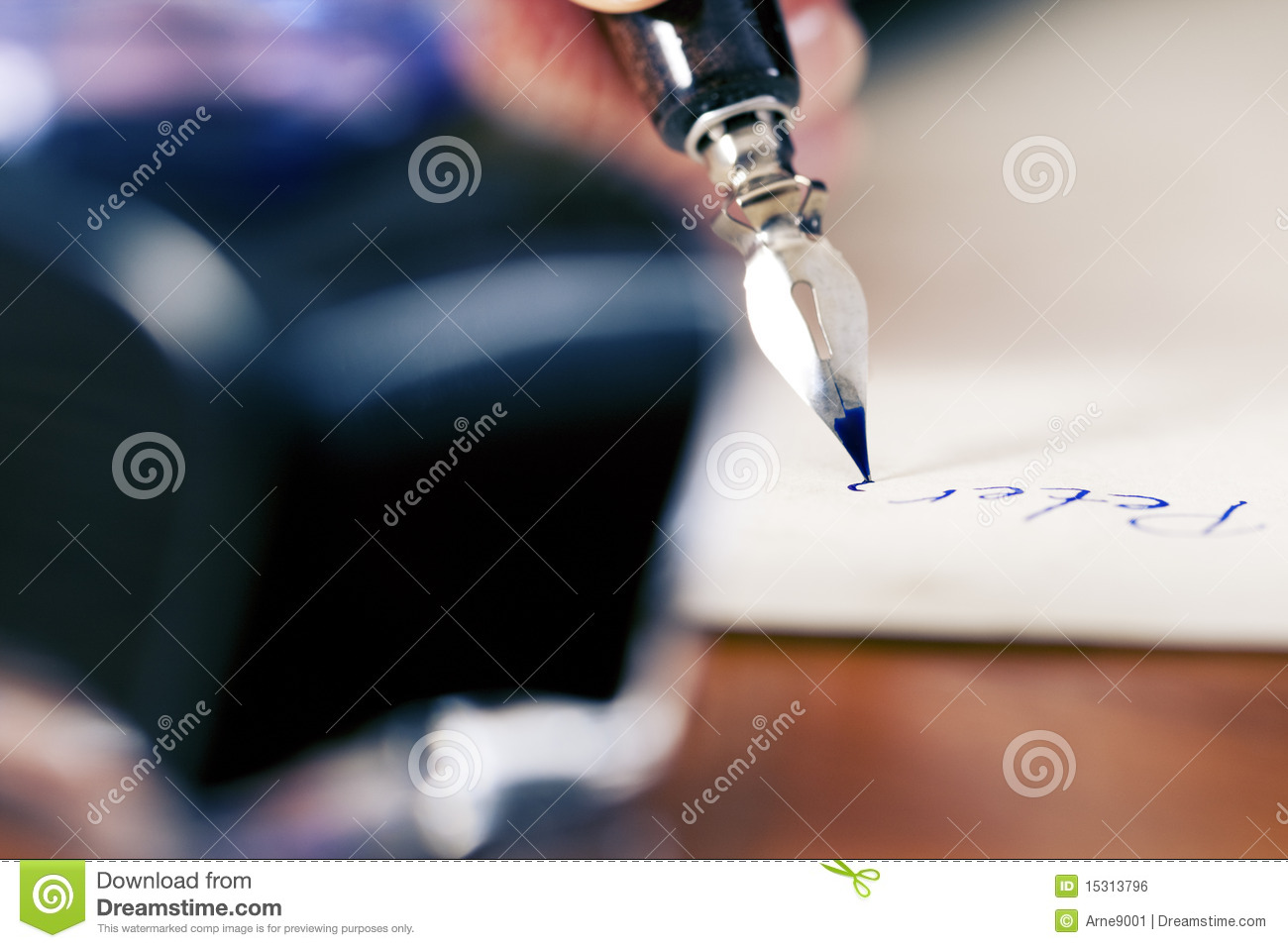 woman writing a love letter poster