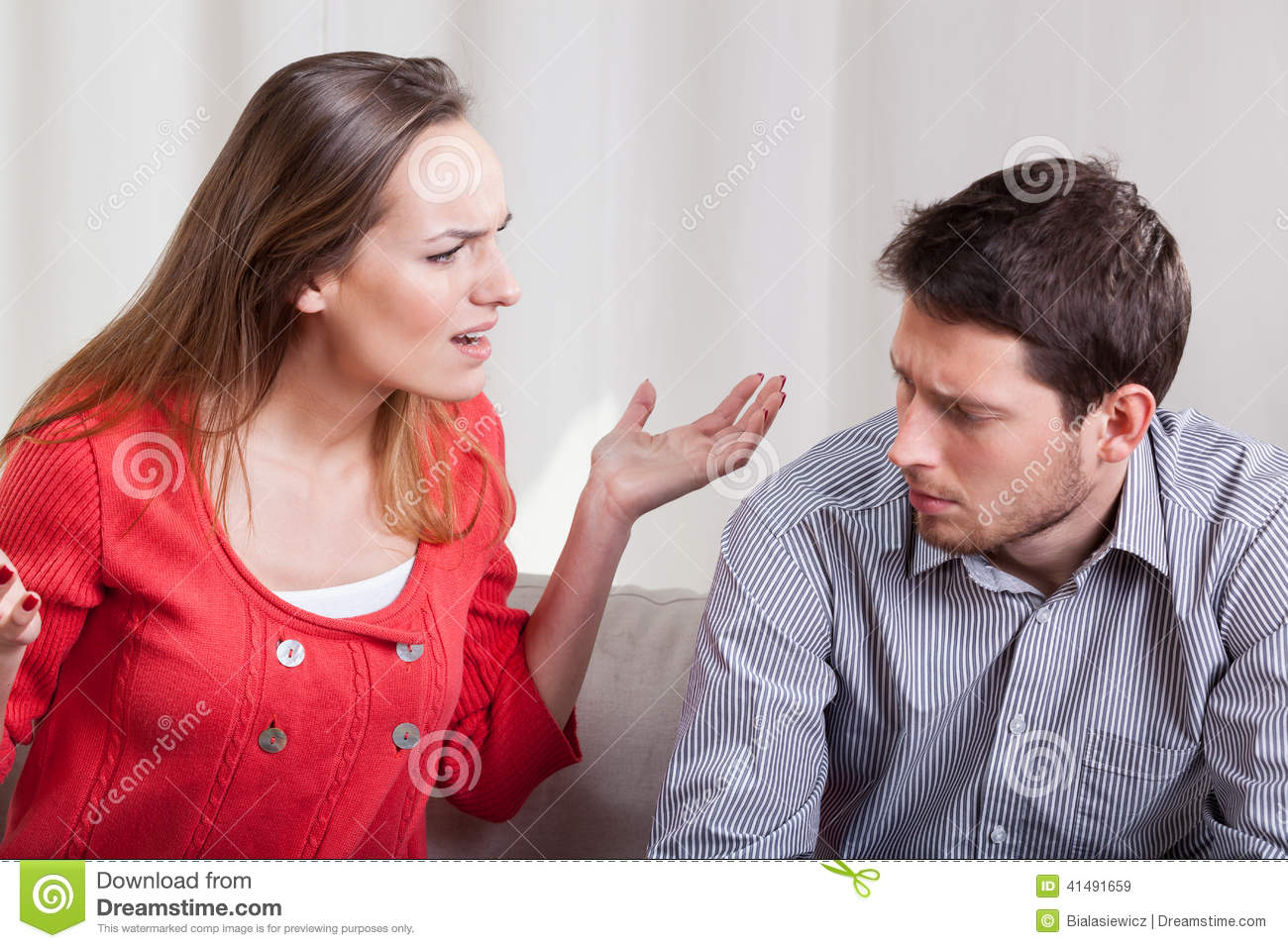 Woman yelling at her man stock image  Image of couple - 41491659
