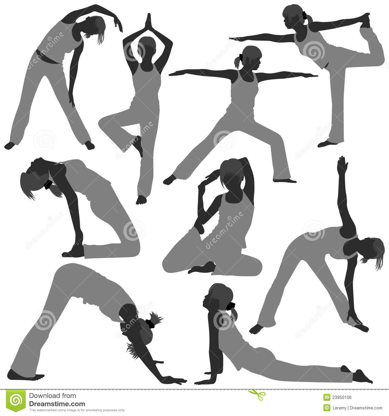 Line Art Exercises : Woman yoga exercise poses healthy royalty free stock image