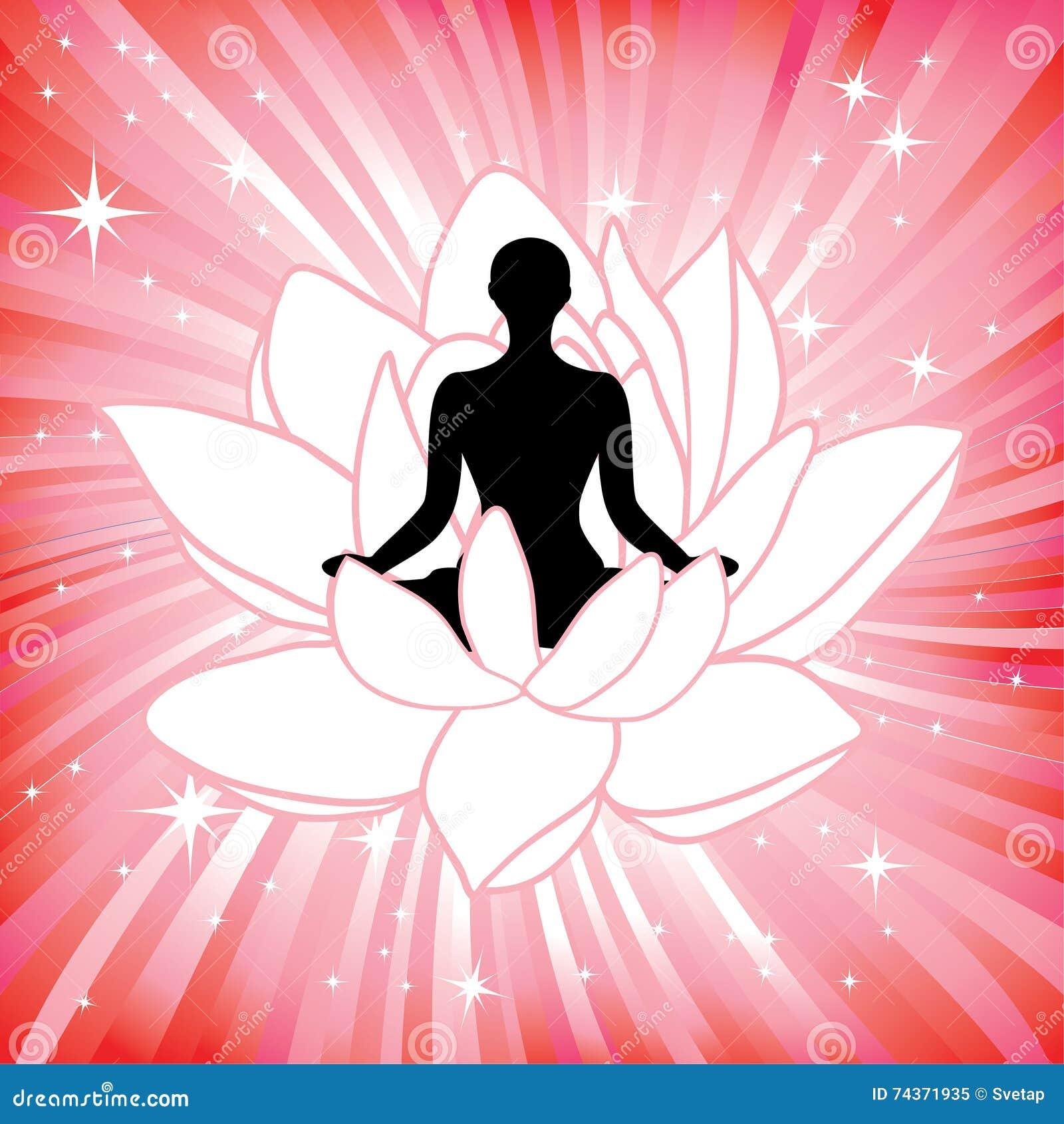 Woman In The Yoga Lotus Flower Asana Stock Image Image Of Petal