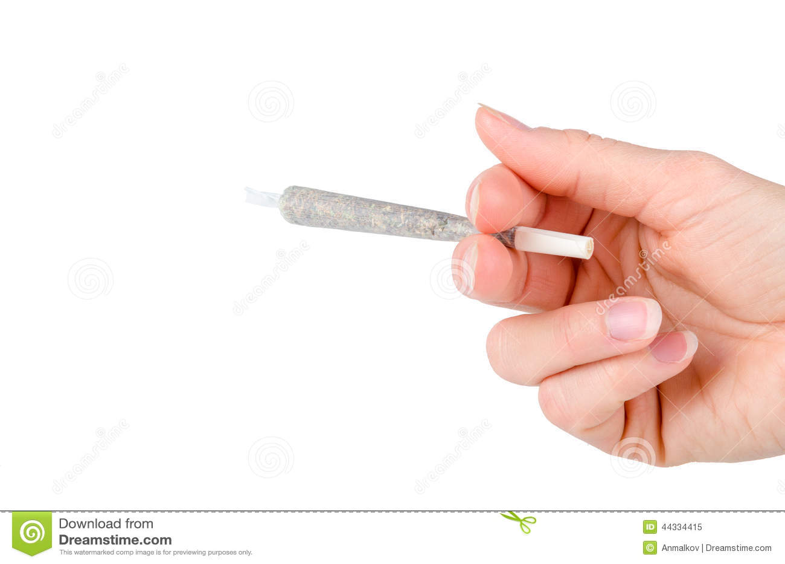 marijuana joint isolated Lit Blunt Clip Art