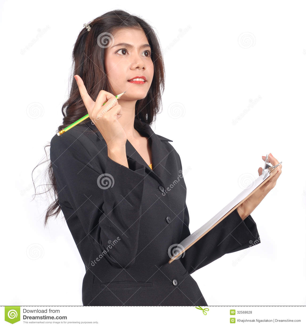 Women Accountant On Working In Studio Royalty Free Stock Photos