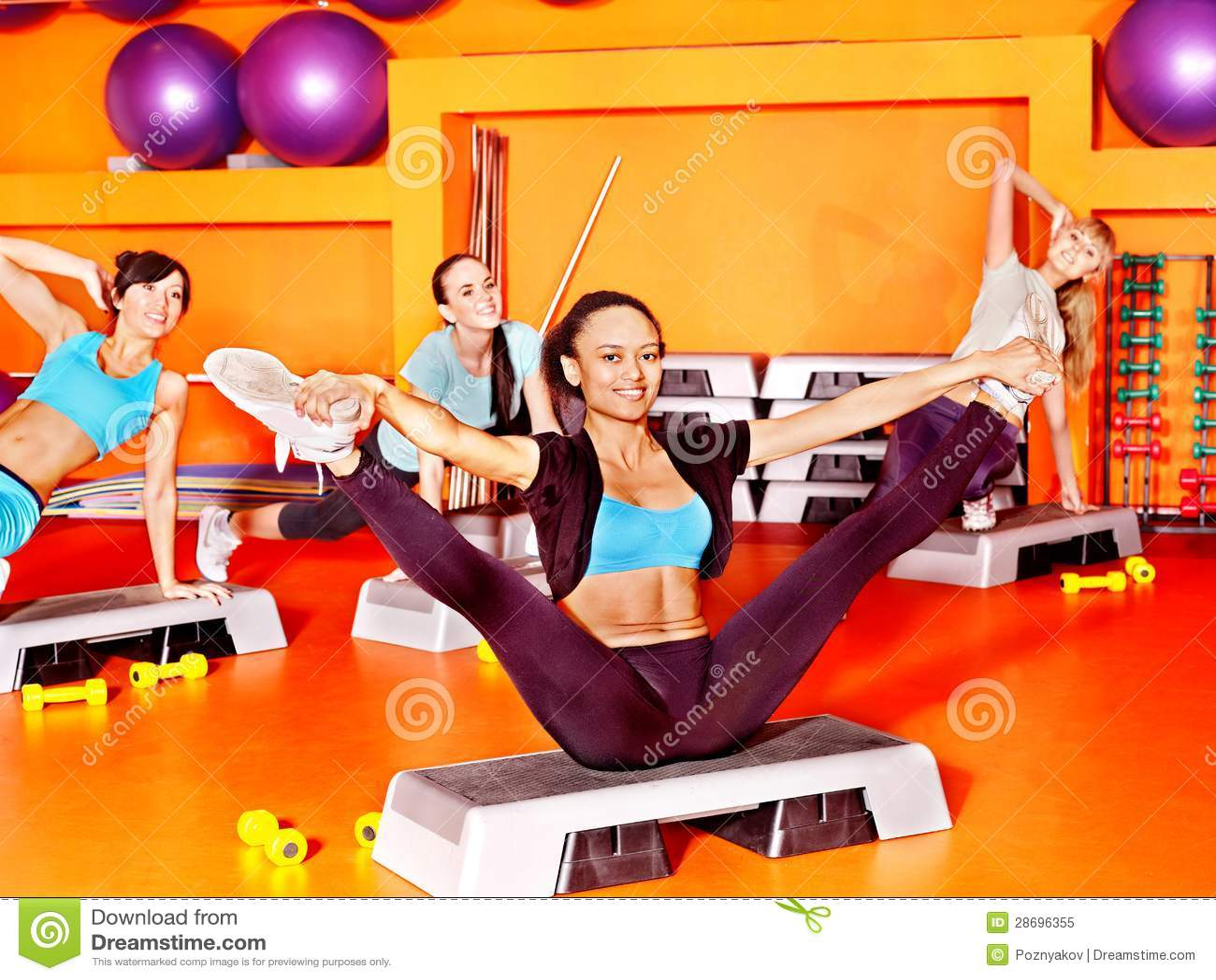 women in aerobics class stock image image of beauty 28696355