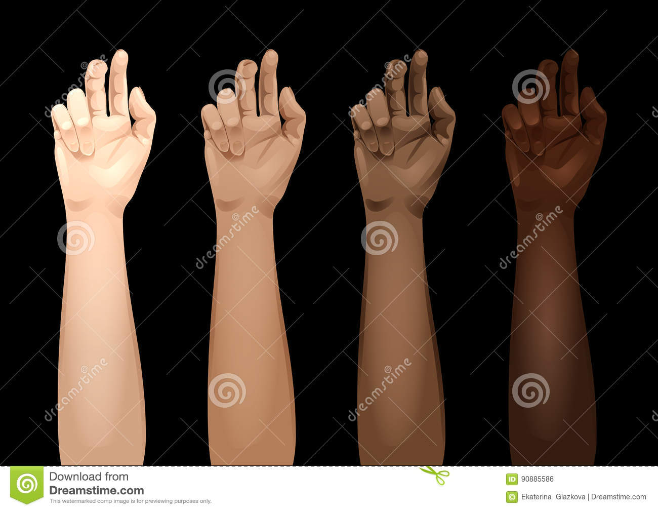 Forearm Template: Women Arms Templates Stock Vector. Illustration Of Nation