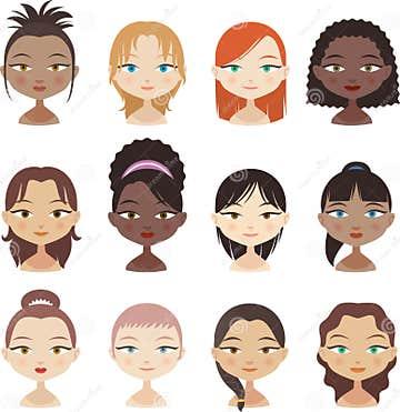 Women Avatar Stock Illustration - Image: 47004388