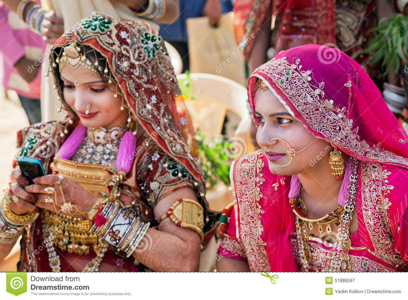 Beautiful Indian Women Portrait With Jewelry Stock Photo Image of