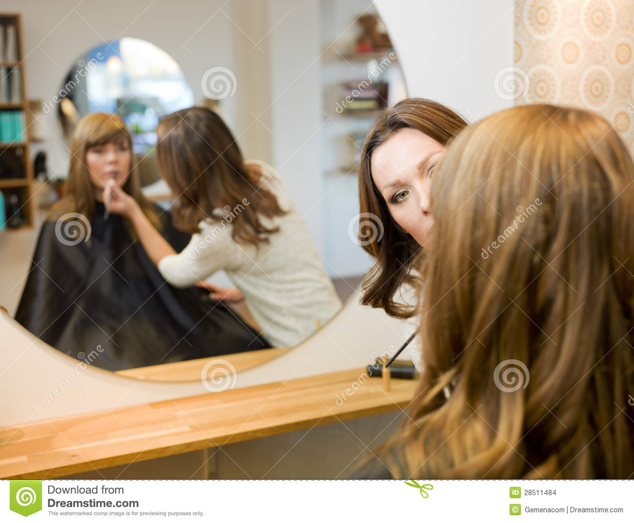 Women in beauty salon stock images image 28511484 for A creative touch beauty salon