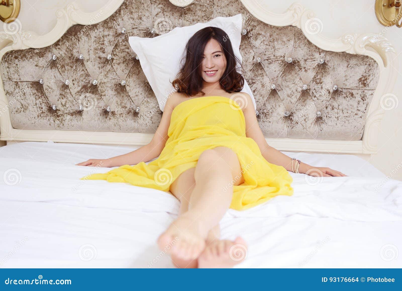 Asian girls bed