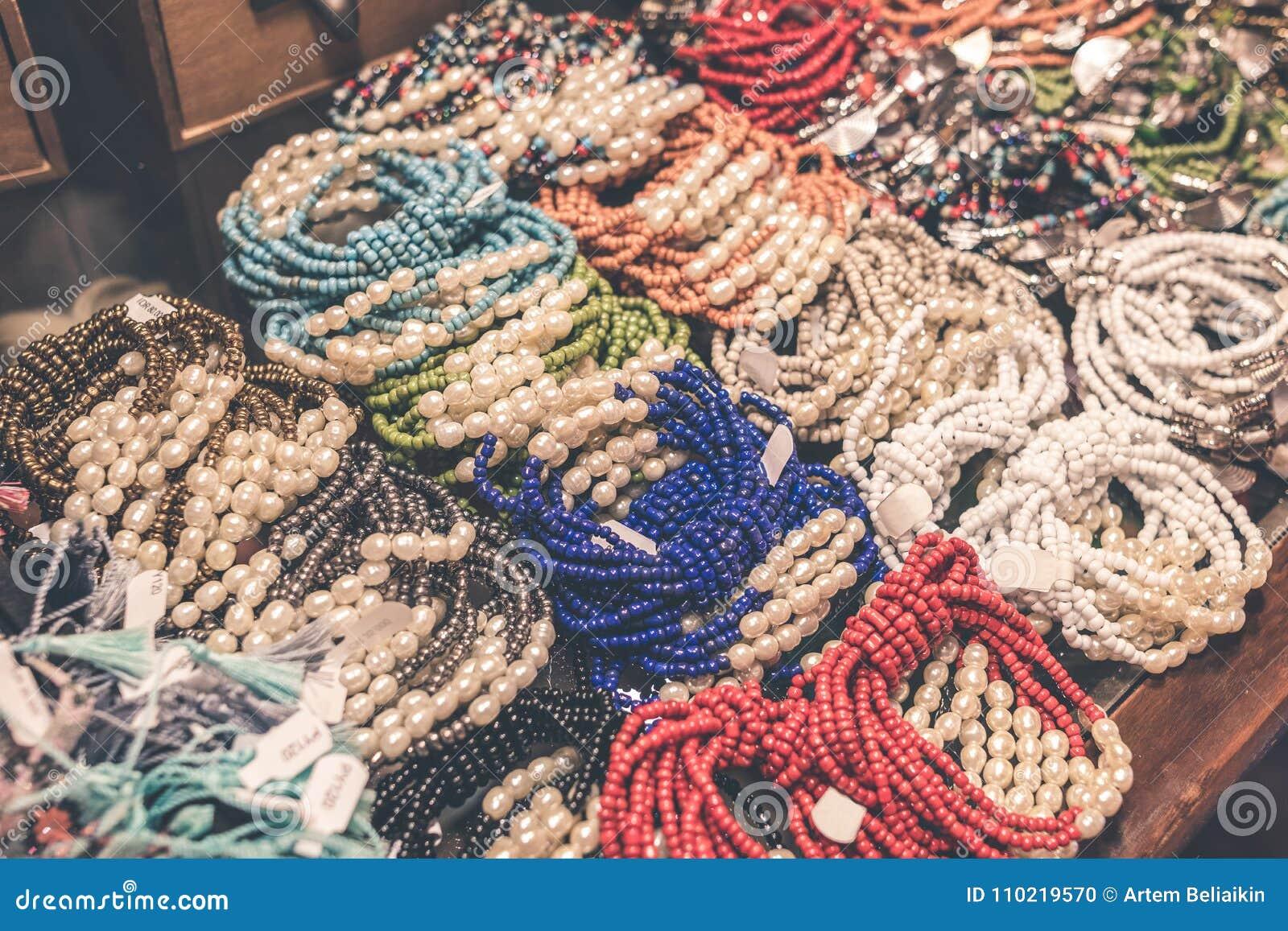 2355eb58f0f Women Bijouterie Accessories In The Store. Bali Island. Stock Photo ...