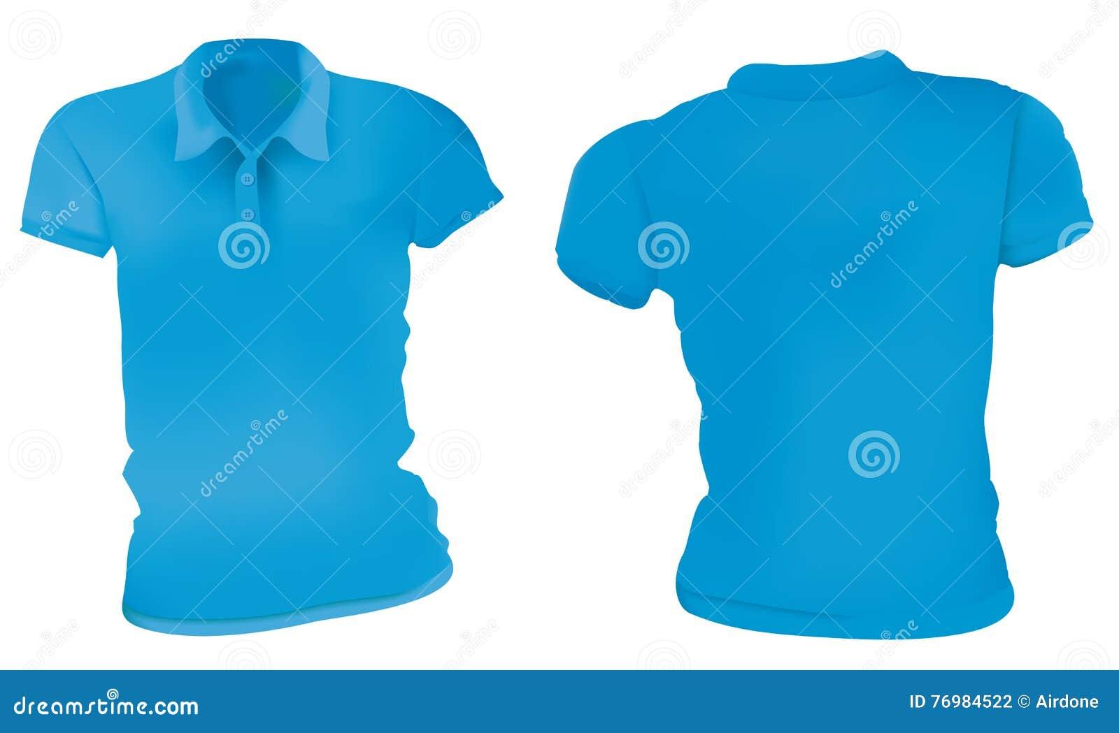 Women Blue Polo Shirts Template Stock Vector - Image: 76984522