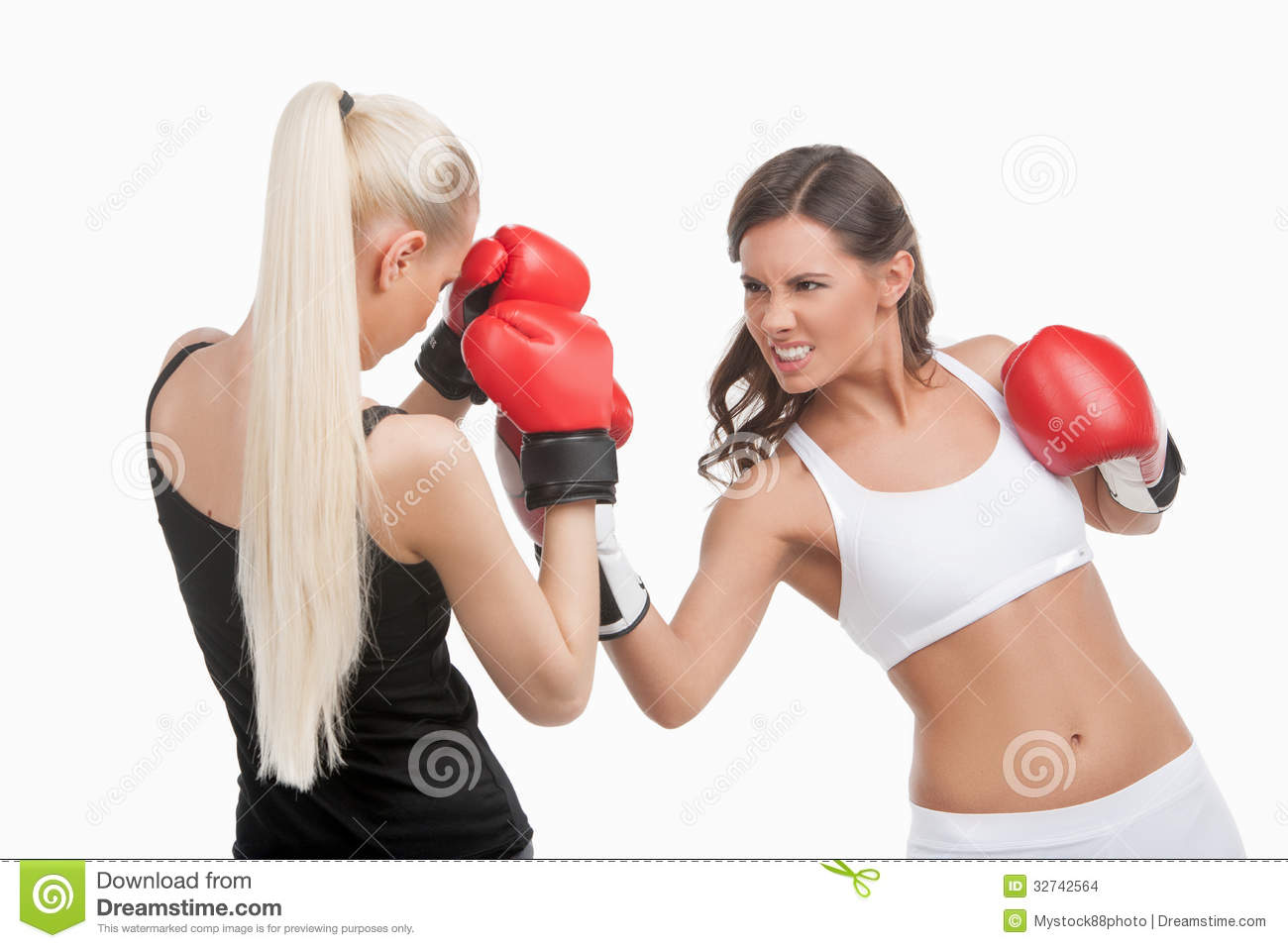 Women boxing.