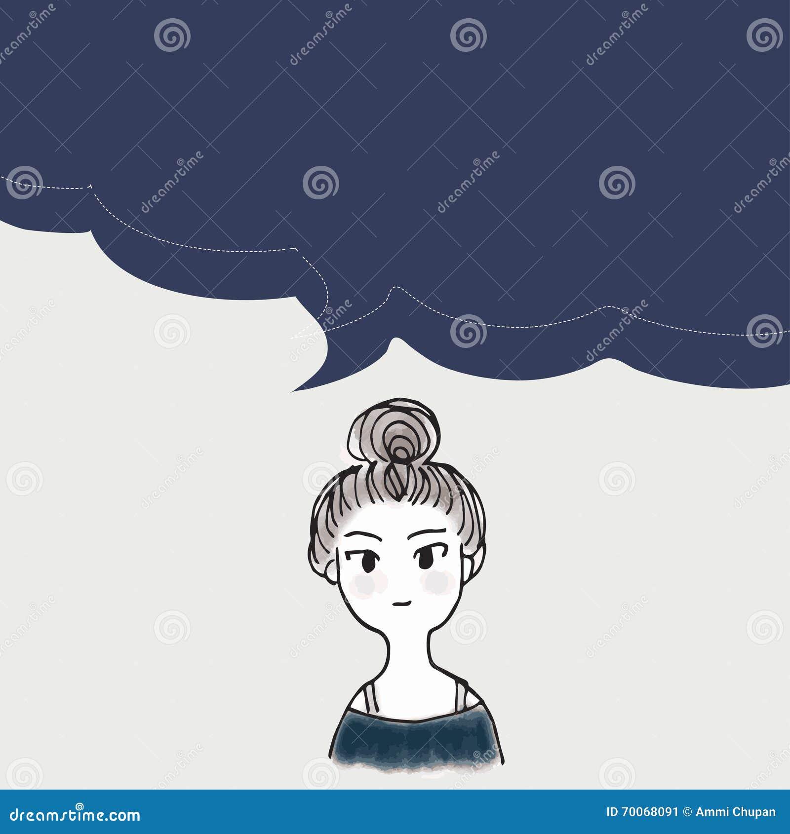 Cartoon Character Design Templates : Women cartoon characters with talking babble vector art