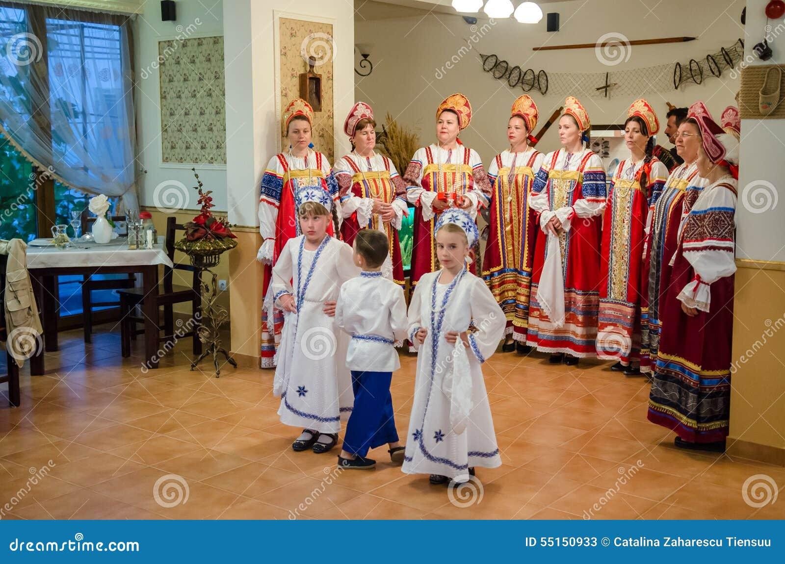 Women Choir Singing Traditional Lipovans Songs In Delta