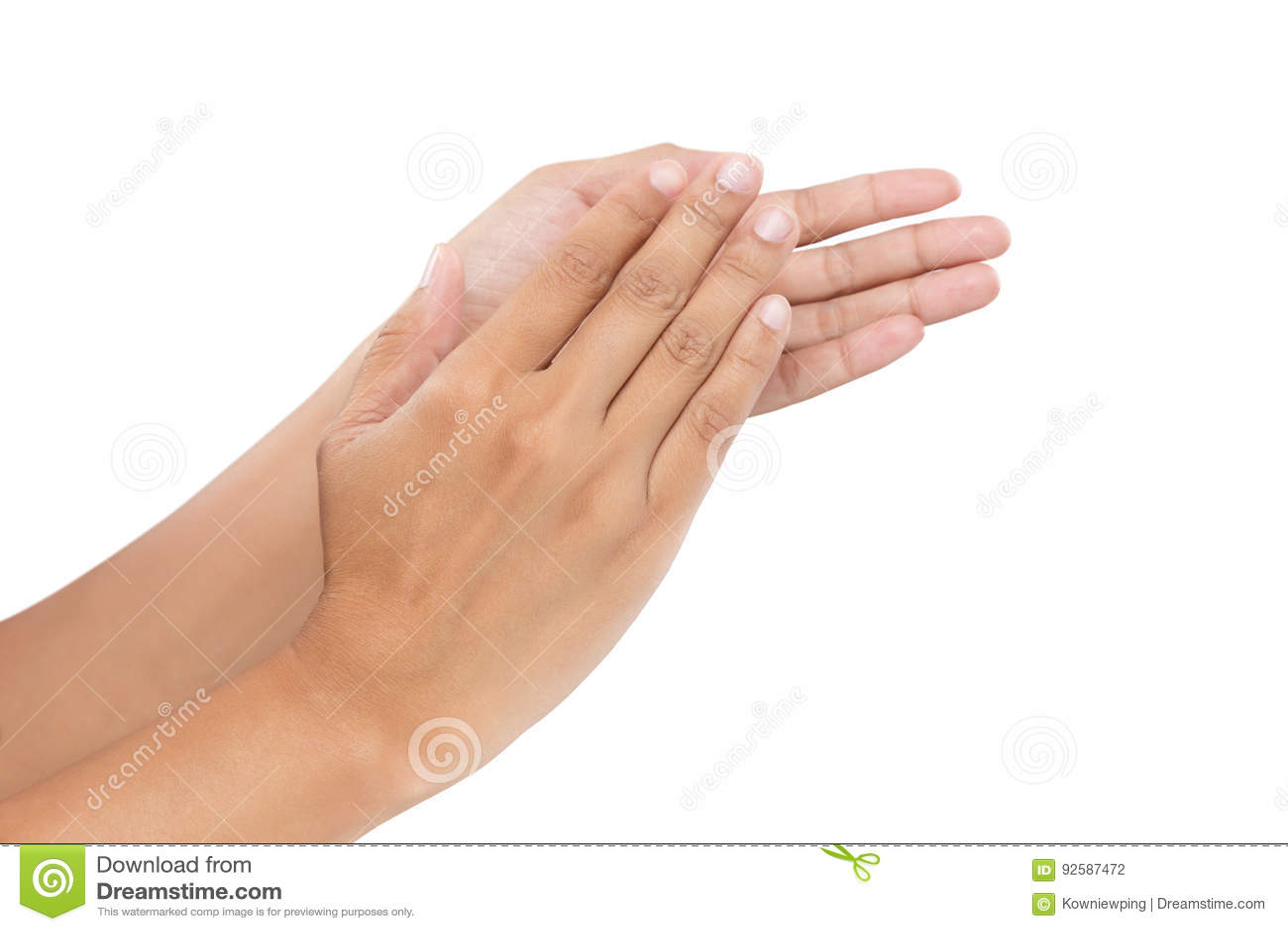 Women clapping hands