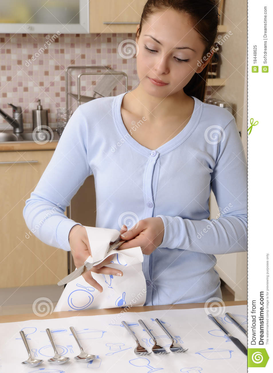 Women Cleaning The House Royalty Free Stock Image