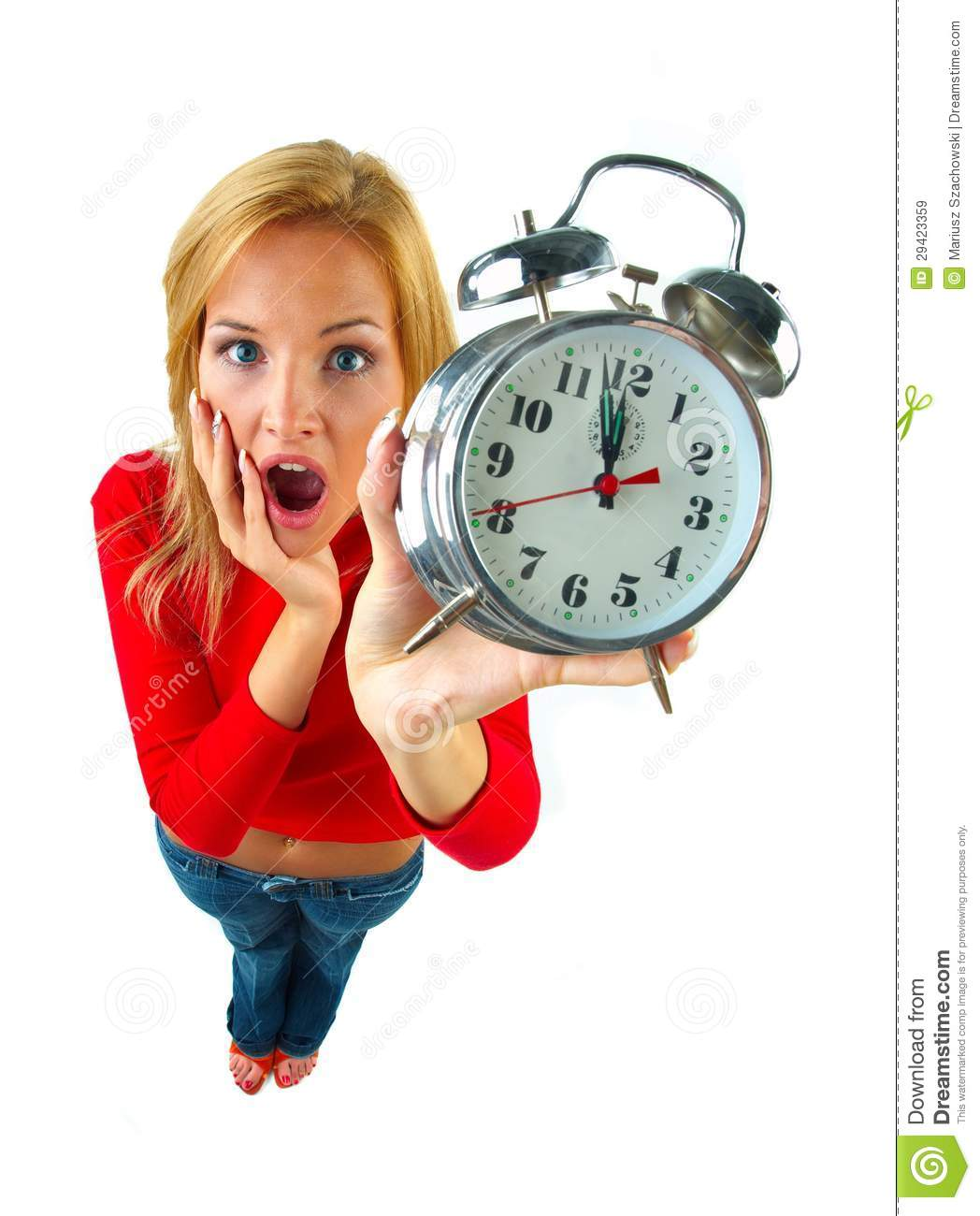 Women with clock