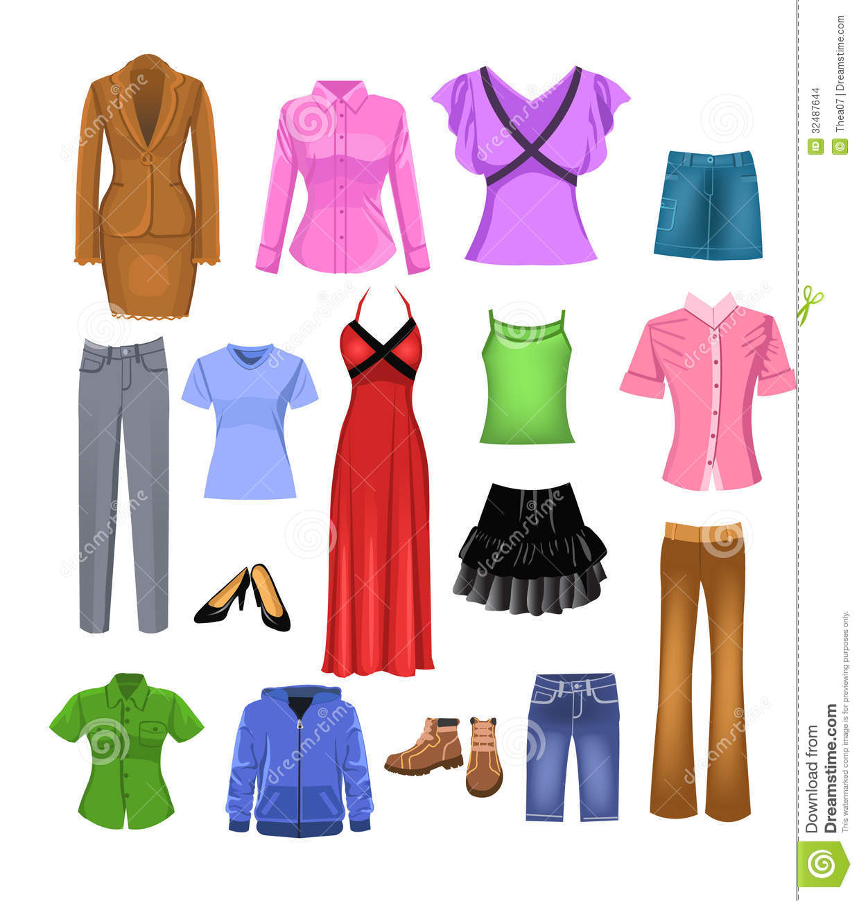 Women Clothes Stock Images Image 32487644